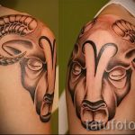 тату овна на плече - фото готовой татуировки от 02082016 1118 tatufoto.ru