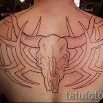 тату овна на спине - фото готовой татуировки от 02082016 3123 tatufoto.ru