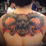 тату овна на спине - фото готовой татуировки от 02082016 4124 tatufoto.ru