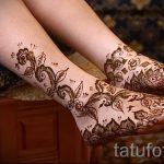 узоры мехенди на ногу - варианты временной тату хной от 05082016 3280 tatufoto.ru