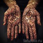 узоры мехенди на руке - фото временной тату хной 4487 tatufoto.ru