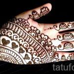 узоры мехенди на руке - фото временной тату хной 6489 tatufoto.ru