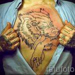 фото - крутые тату на груди мужские - пример 7230 tatufoto.ru
