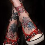 фото - крутые тату на ноге - пример 3255 tatufoto.ru