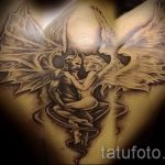 фото - тату близнецы ангел и демон - вариант 1038 tatufoto.ru