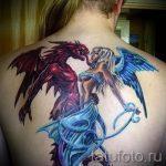 фото - тату близнецы ангел и демон - вариант 2039 tatufoto.ru