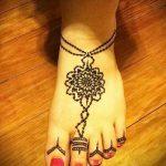 хной на ноге рисунки - варианты временной тату хной от 05082016 2283 tatufoto.ru