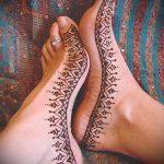 хной на ноге рисунки - варианты временной тату хной от 05082016 4285 tatufoto.ru