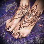 хной на ноге рисунки - варианты временной тату хной от 05082016 8289 tatufoto.ru