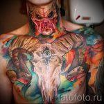 череп овен тату - фото готовой татуировки от 02082016 5129 tatufoto.ru