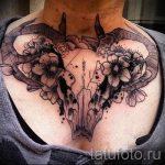 череп овен тату - фото готовой татуировки от 02082016 7131 tatufoto.ru