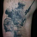 Airborne Special Forces Tätowierung - Foto Beispiel der Tätowierung 3012 tatufoto.ru