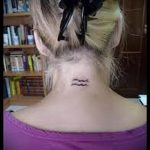 Aquarius tattoo on his neck - a photo - an example of the finished tattoo 01082016 2036 tatufoto.ru
