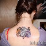 Aries tattoo for girls - a photo of the finished tattoo on 02082016 2015 tatufoto.ru