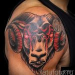 Aries tattoos for men - a photo of the finished tattoo on 02082016 2024 tatufoto.ru