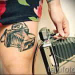 Foto - cool Tätowierung auf ihrem Bein - ein Beispiel 1016 tatufoto.ru