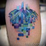 Foto - cool Tattoo auf seinem Kalb - ein Beispiel 1026 tatufoto.ru