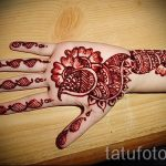 Hand Peacock mehendi auf - Fotos temporäre Henna-Tattoo 1008 tatufoto.ru