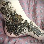 Henna-Muster auf ihrem Bein Photo - Optionen für temporäre Henna-Tattoo auf 05082016 1023 tatufoto.ru