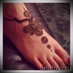 Henna-Muster auf ihrem Bein Photo - Optionen für temporäre Henna-Tattoo auf 05082016 2024 tatufoto.ru