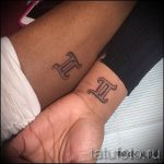 Photo - tattoo on the wrist twins - option 1031 tatufoto.ru