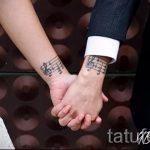 Tätowierung stellt fest an seinem Handgelenk - ein Foto des fertigen Tätowierung 02082016 3040 tatufoto.ru