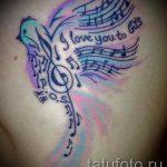 Tattoo-Notizen und Vögel - Fotos des fertigen Tätowierung auf 02082016 1072 tatufoto.ru