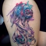 Wassermann Tattoo Aquarell - Foto - ein Beispiel für die fertigen Tätowierung 01082016 1056 tatufoto.ru