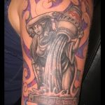 Wassermann Tattoo auf seinem Arm - Foto - ein Beispiel für die fertigen Tätowierung 01082016 1058 tatufoto.ru