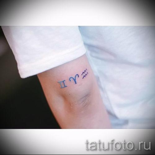 Widder Tattoo Auf Ihrem Handgelenk Ein Foto Des Fertigen