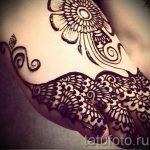 Zeichnungen Henna auf dem Fuß Licht - Variationen über eine temporäre Henna-Tattoo 05082016 1110 tatufoto.ru