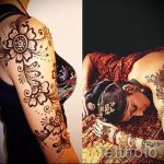 beautiful mehendi on her arm - a temporary henna tattoo photo 1002 tatufoto.ru