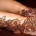 belles mehendi sur sa jambe - options pour tatouage au henné temporaire sur 05082016 1002 tatufoto.ru