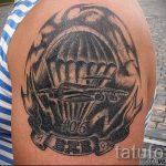 für Airborne Tattoo - Foto Beispiel der Tätowierung 2033 tatufoto.ru