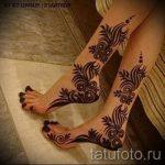 henné sur les chiffres du pied - variations sur un tatouage au henné temporaire 05082016 2026 tatufoto.ru