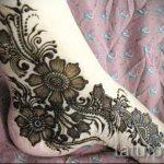 mehendi Blumen Fuß - Optionen für temporäre Henna-Tattoo auf 05082016 1050 tatufoto.ru