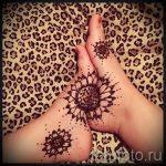 mehendi Blumen Fuß - Optionen für temporäre Henna-Tattoo auf 05082016 2051 tatufoto.ru