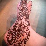 mehendi Blumen Fuß - Optionen für temporäre Henna-Tattoo auf 05082016 3052 tatufoto.ru