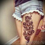 mehendi Muster auf dem Bein - Optionen für temporäre Henna-Tattoo auf 05082016 1068 tatufoto.ru