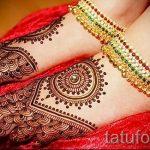mehendi Muster auf dem Bein - Optionen für temporäre Henna-Tattoo auf 05082016 2069 tatufoto.ru