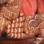 mehendi Muster auf der Hand - eine temporäre Henna-Tattoo Foto 12082 tatufoto.ru