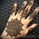 mehendi Muster auf der Hand - eine temporäre Henna-Tattoo Foto 14084 tatufoto.ru