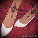 mehendi am Bein Armband - Optionen für temporäre Henna-Tattoo auf 05082016 1034 tatufoto.ru