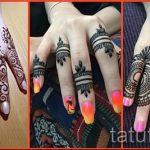 mehendi an den Fingern - eine temporäre Henna-Tattoo Foto 1018 tatufoto.ru