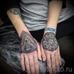 mehendi auf der Hand-Auge - eine temporäre Henna-Tattoo Foto 1038 tatufoto.ru