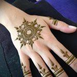 mehendi auf der Hand für Anfänger - Bild temporäre Henna-Tattoo 1025 tatufoto.ru