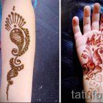 mehendi auf der Hand für Kinder - Foto temporäre Henna-Tattoo 2029 tatufoto.ru