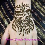 mehendi auf einer Hand Owl - Foto temporäre Henna-Tattoo 1048 tatufoto.ru