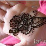 mehendi auf ihre Handzeichnung - Foto temporäre Henna-Tattoo 2056 tatufoto.ru