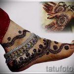 mehendi auf ihrer Hand und Fuß - eine temporäre Henna-Tattoo Foto 1069 tatufoto.ru